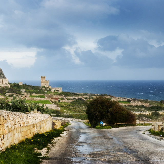 """""""On the road towards the castle"""" stock image"""