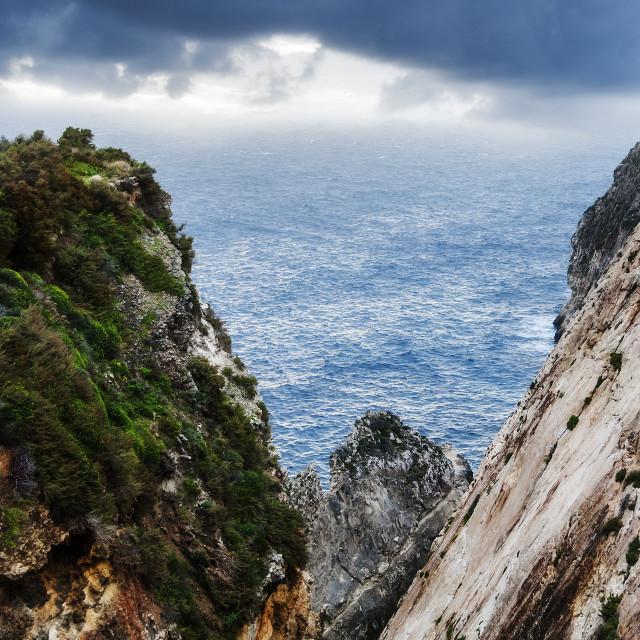 """Steep Cliffs"" stock image"