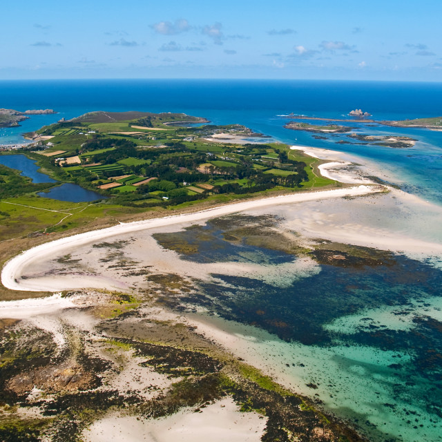 """Aerial view of Tresco"" stock image"