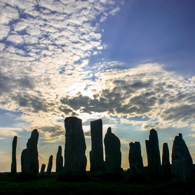 """Standing Stones - Callanish, Isle of Lewis"" stock image"