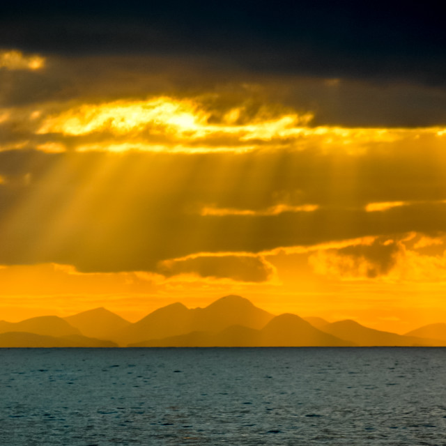 """Skye Sunset"" stock image"
