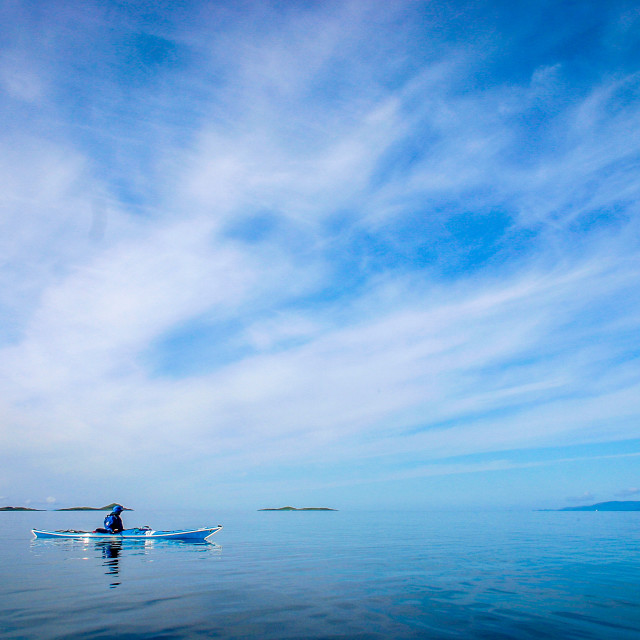 """Sea kayak calm water"" stock image"