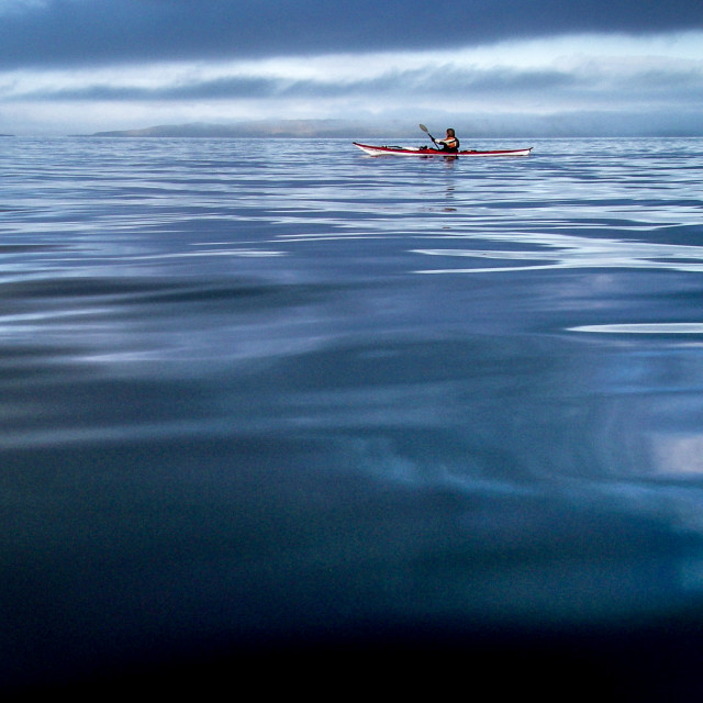 """Sea kayak deep water -2"" stock image"