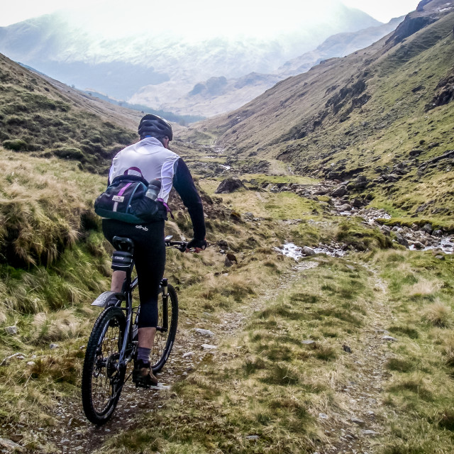 """Biking the Pass"" stock image"