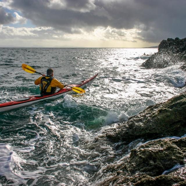 """""""Sea kayaking west"""" stock image"""