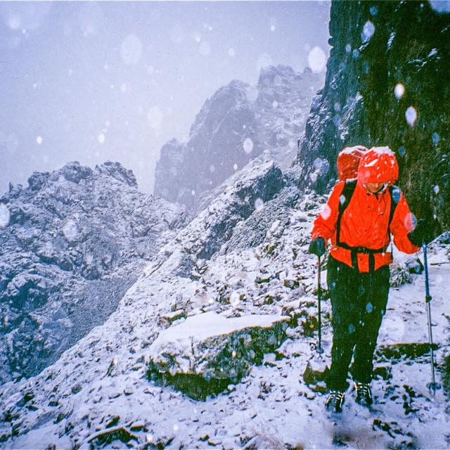 """Corsica GR20 Snow"" stock image"