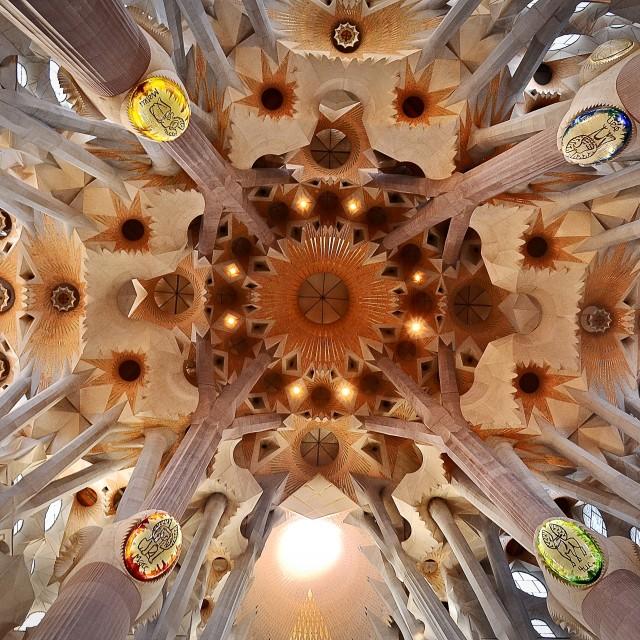 """Sagrada Familia, Gaudí"" stock image"