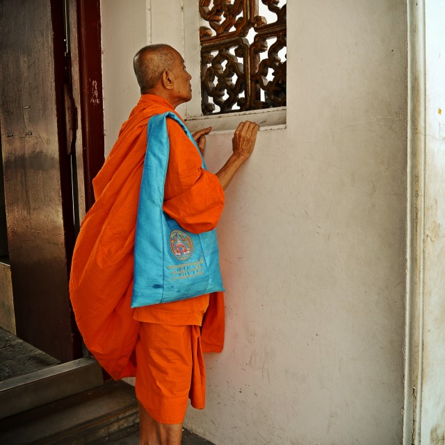 """Monk, Bangkok"" stock image"