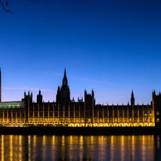 """The British Houses of Parliament London England"" stock image"
