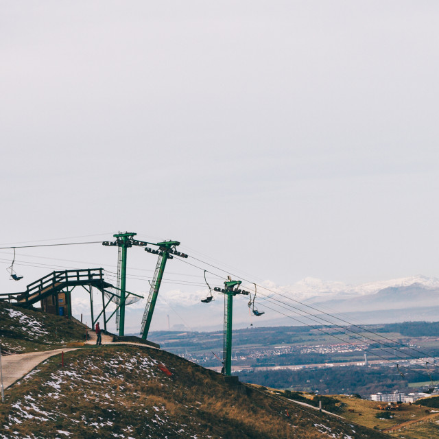 """Scottish Pentland's ski resort"" stock image"