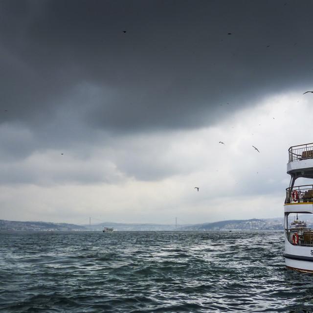 """""""Bosphorus Boat (Bosporus), Istanbul, Turkey"""" stock image"""