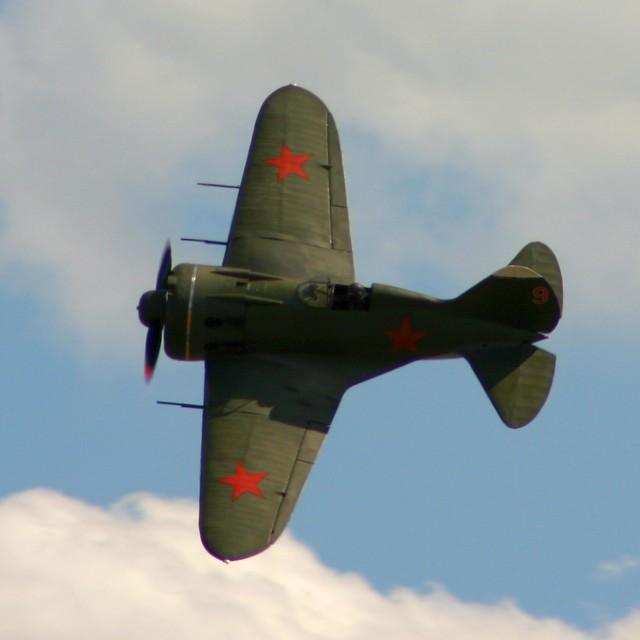 """""""Polikarpov I-16 D-EPRN"""" stock image"""