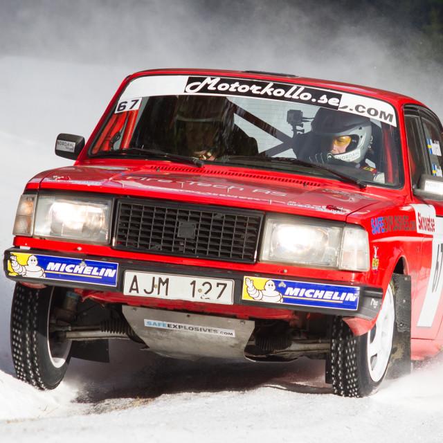 """""""Winter rally Östersund 2015"""" stock image"""