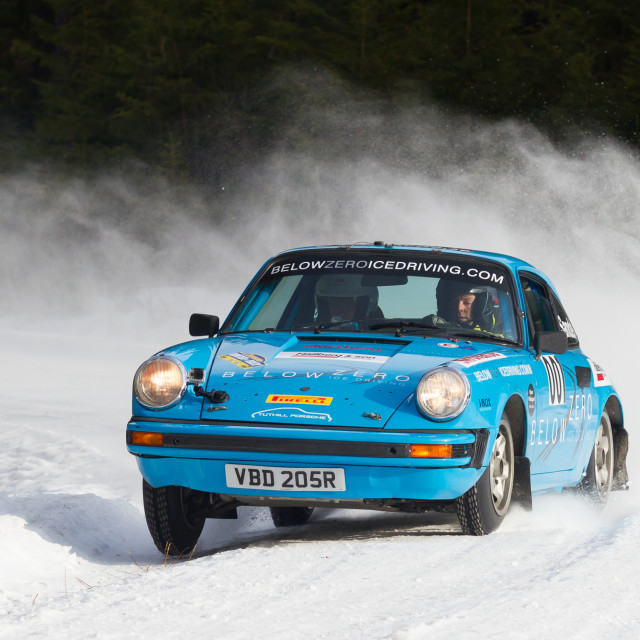 """Winter rally Östersund 2015"" stock image"