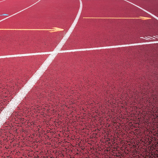 """Red running field track"" stock image"