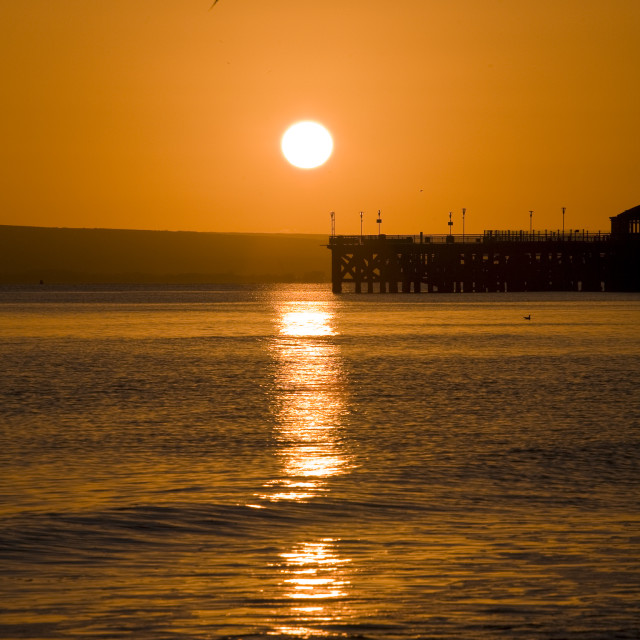 """""""Evening sunset over the sea"""" stock image"""
