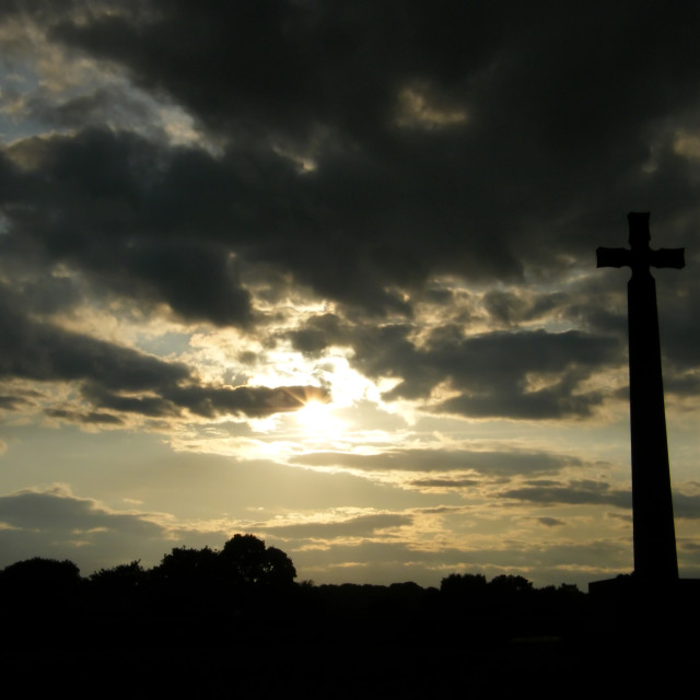 """""""St Cuthberts Cross"""" stock image"""
