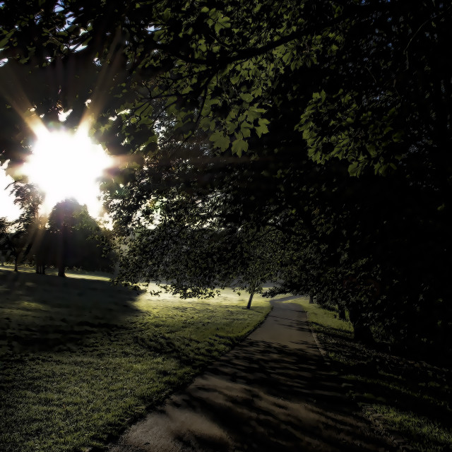 """""""Path to the Light"""" stock image"""