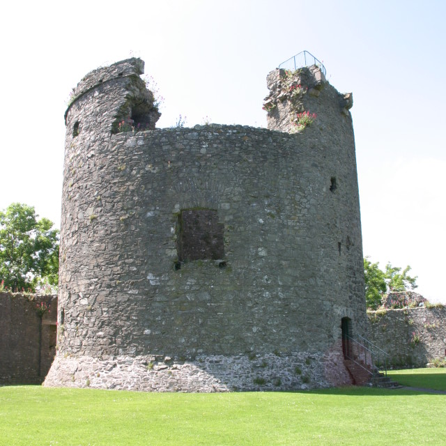 """""""The keep of Dundrum Castle"""" stock image"""