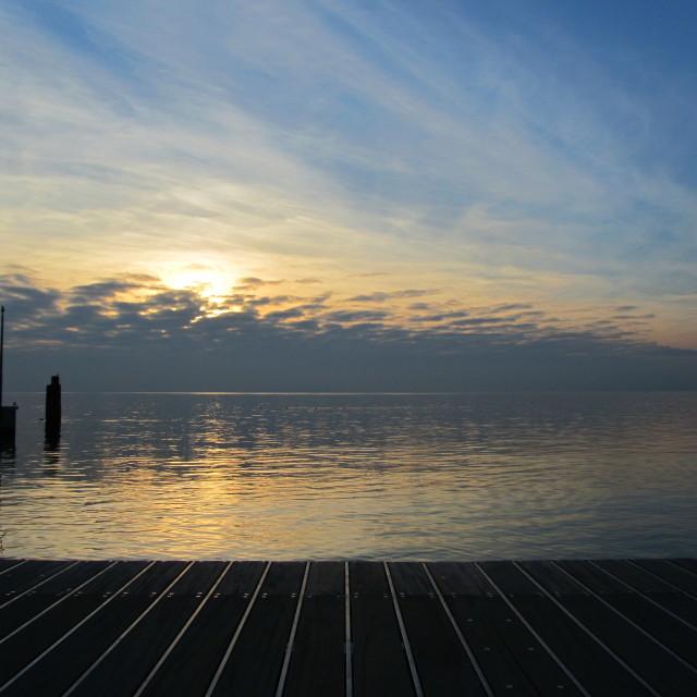 """""""Sunset at Lake Garda"""" stock image"""