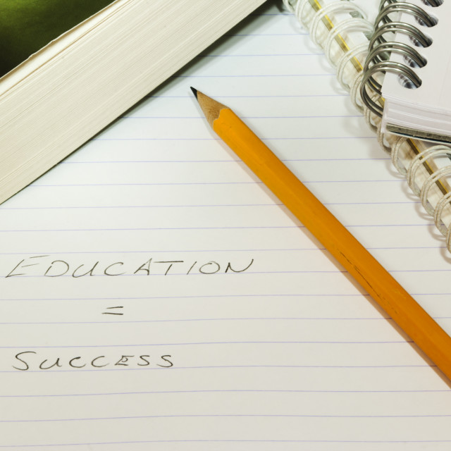 """Education = Success"" stock image"