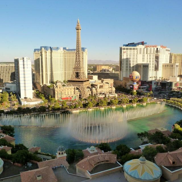 """Las Vegas from The Bellagio"" stock image"