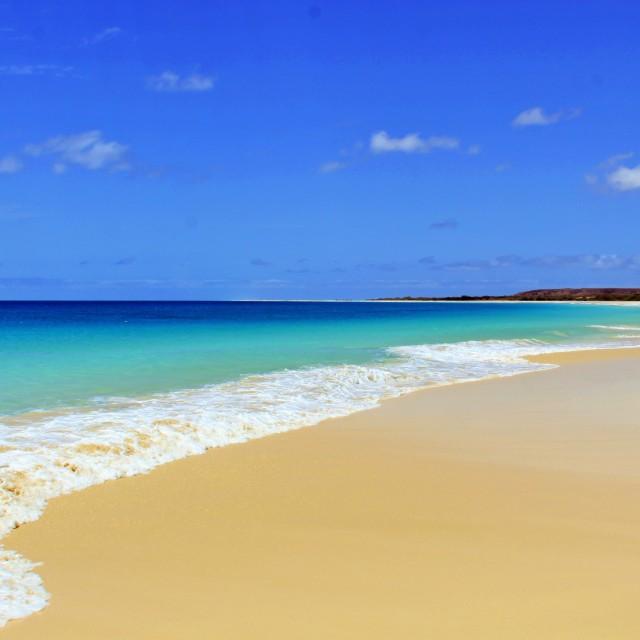 """Santa Monica Beach"" stock image"
