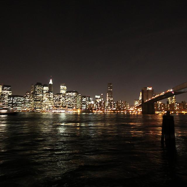 """Manhattan At Night"" stock image"
