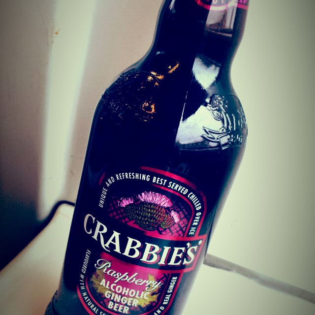 """a bottle of Crabbies"" stock image"