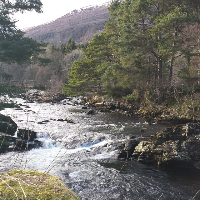 """River Dochart"" stock image"