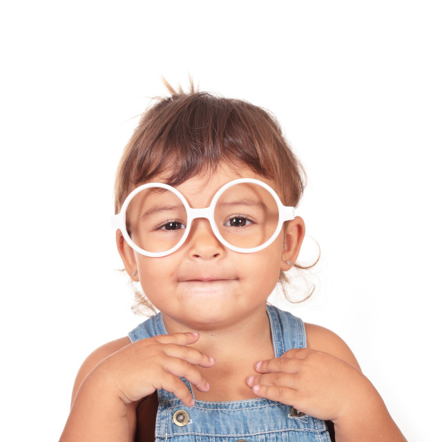 """little girl and glasses"" stock image"