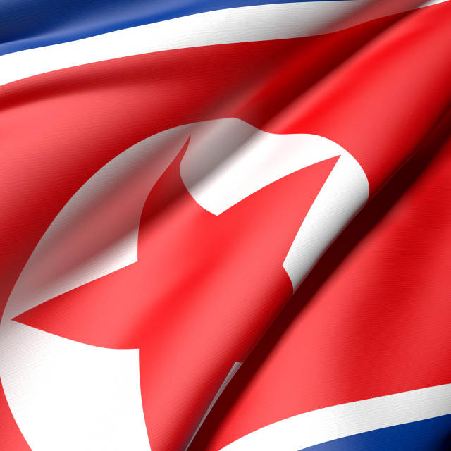 """north korea flag"" stock image"