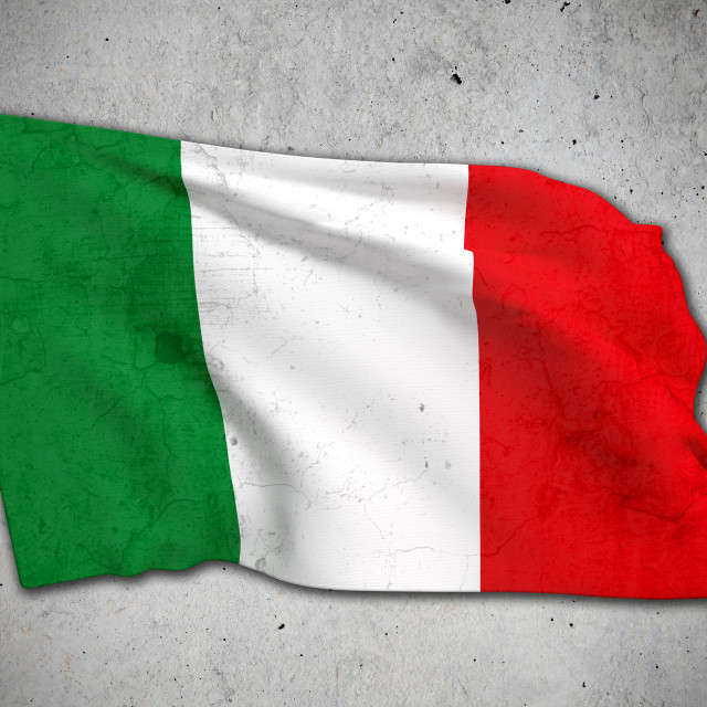 """old Italy flag"" stock image"