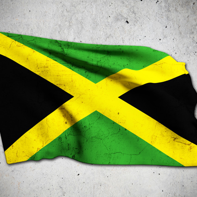 """old jamaica flag"" stock image"