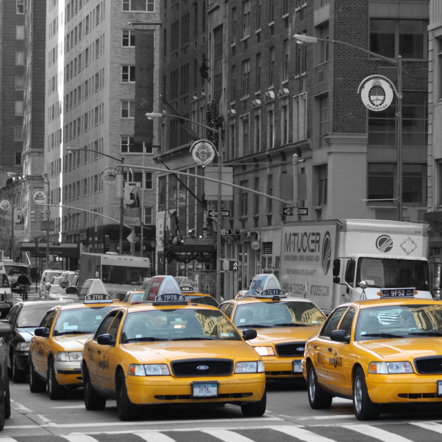 """""""Yellow Cabs NYC"""" stock image"""