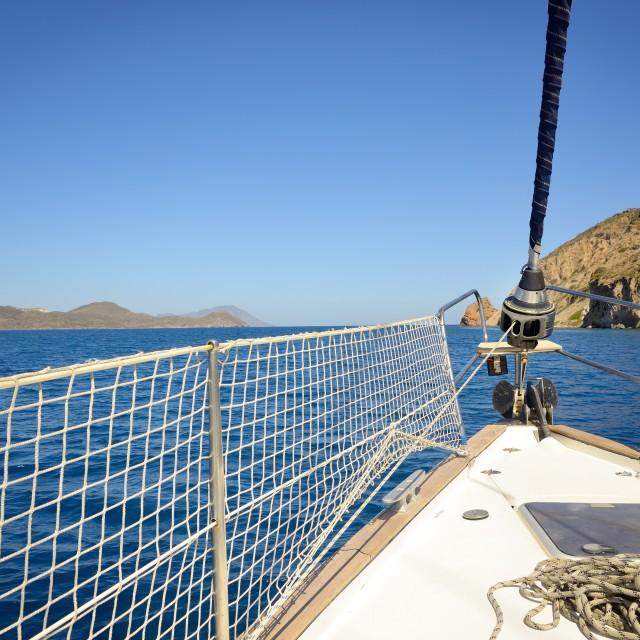 """""""sailing a sailboat"""" stock image"""
