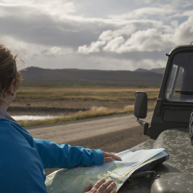 """Routefinding, Iceland"" stock image"