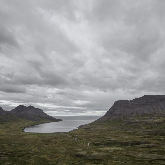 """Fjord, Iceland"" stock image"