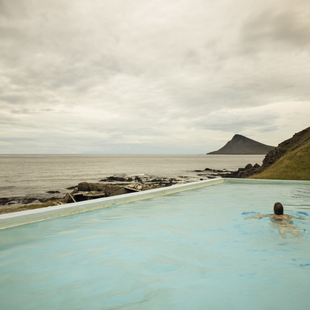 """Thermal pool, Iceland"" stock image"