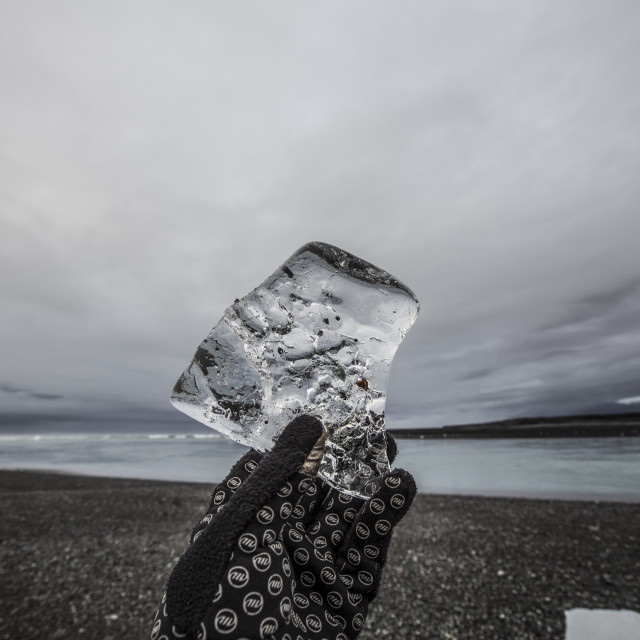"""Ancient ice, Iceland"" stock image"