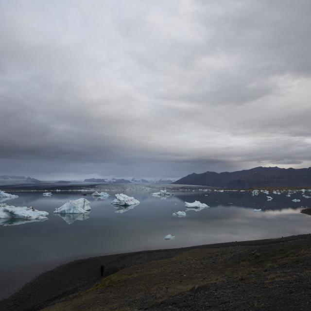 """""""Jokulsarlson lagoon, Icealand"""" stock image"""