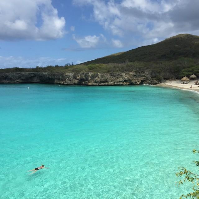 """Grote Knip Beach, Curacao"" stock image"