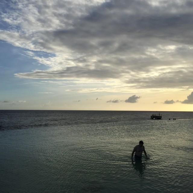 """Infinity Pool, Curacao"" stock image"