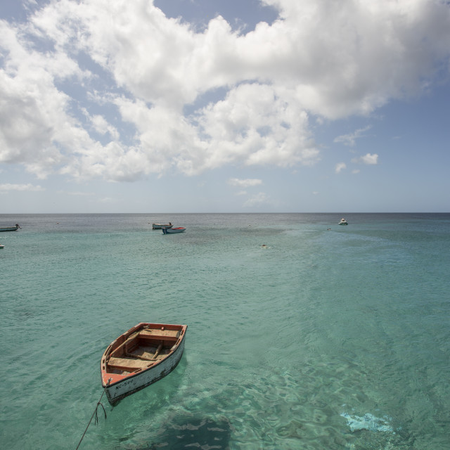 """Rowboat, Curacao"" stock image"