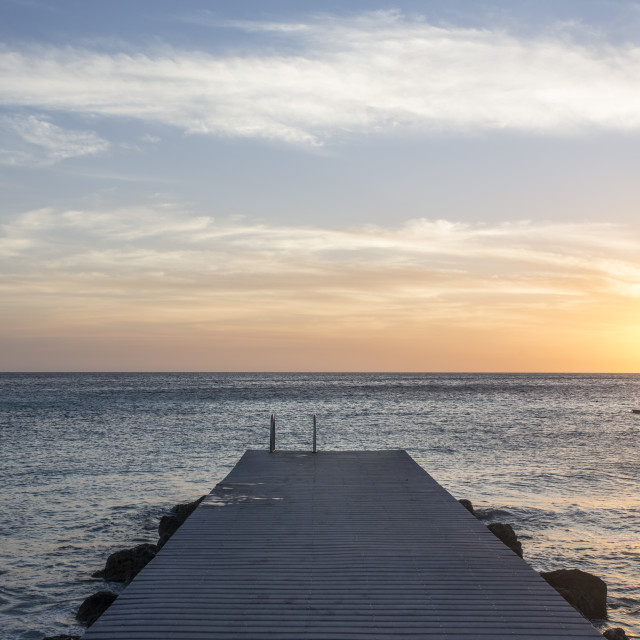 """Sunset, Curacao"" stock image"