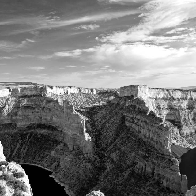 """Big Horn Canyon"" stock image"