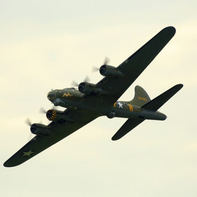 """B17g Flying Fortress 124485 ""Sally B"""" stock image"