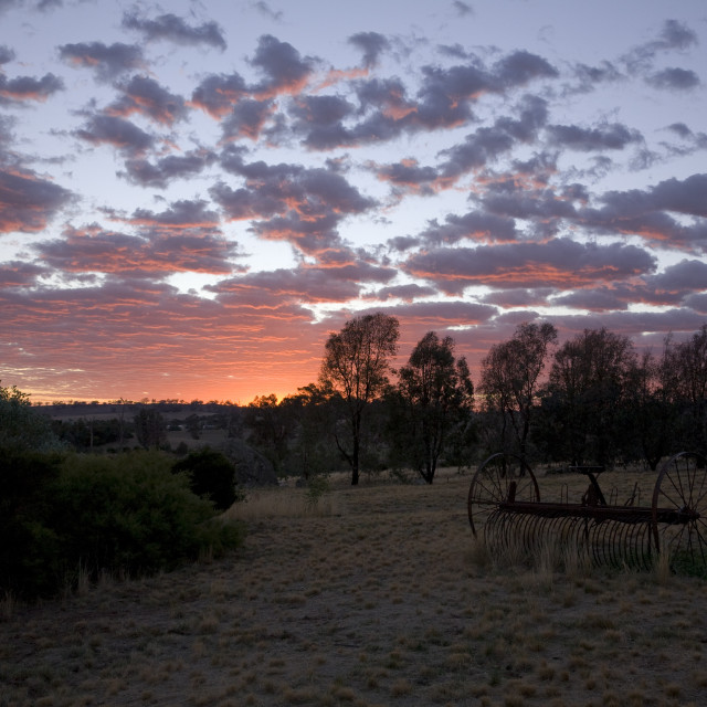 """Sunrise in outback Australia"" stock image"