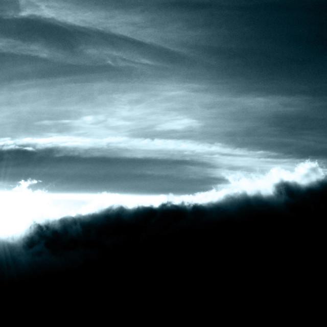 """Sunset over Karanga Camp, Mt Kilimanjaro"" stock image"
