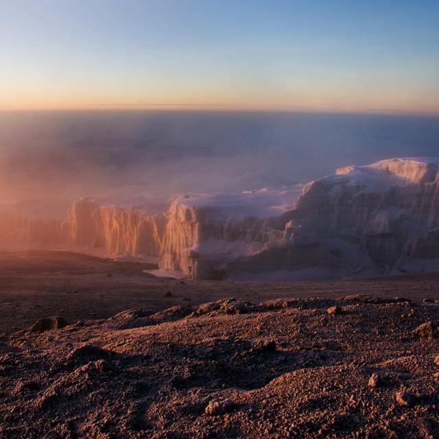 """""""Mt Kilimanjaro's Glaciers"""" stock image"""